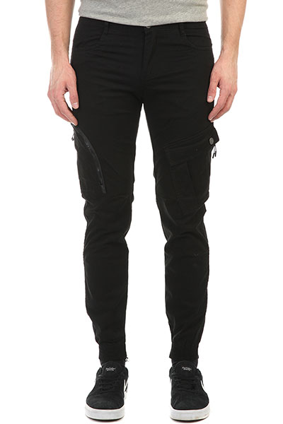 Штаны прямые Skills Asymmetric Pants Black