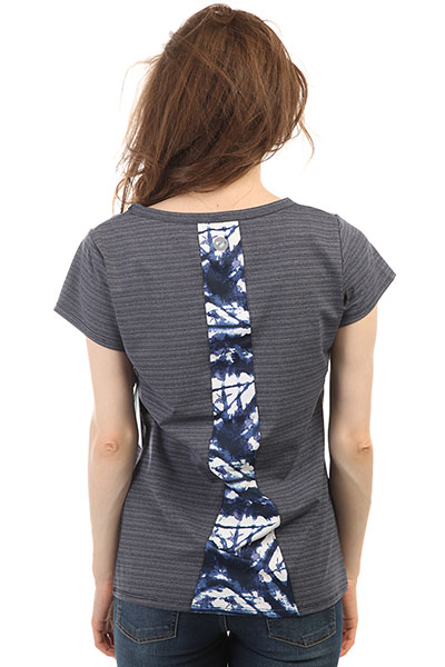 Футболка женская Roxy Easy Game Tee Dress Blues Geometri