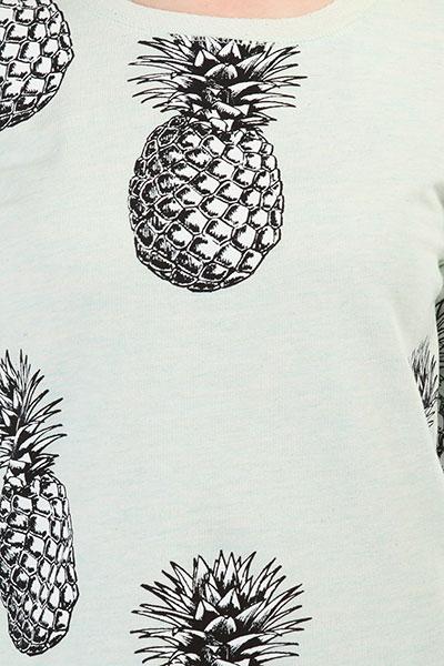 Толстовка классическая женская Roxy Puertoadventure Blue Light Big Pineapple