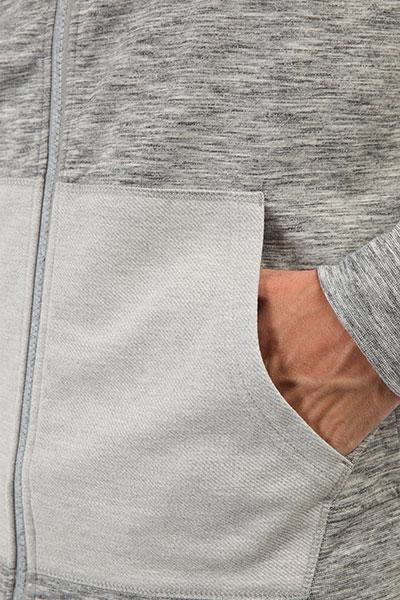 Толстовка классическая Quiksilver Airdrove Medium Grey Heather