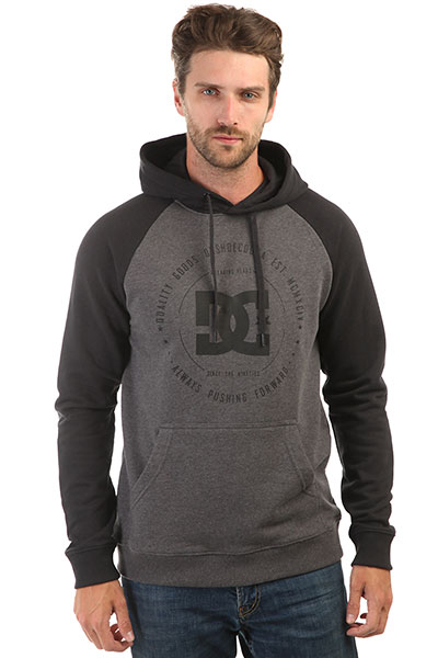 Толстовка кенгуру DC Rebuilt Black/Charcoal Heather