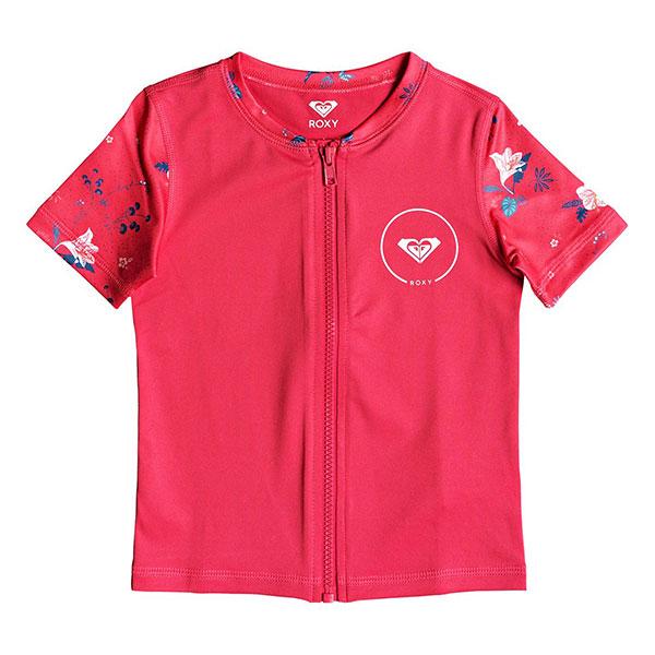 Гидрофутболка детская Roxy Shortbreak Rouge Red Tropicool