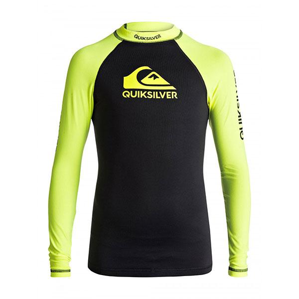 Гидрофутболка детская Quiksilver On Tour Boys Safety Yellow Black