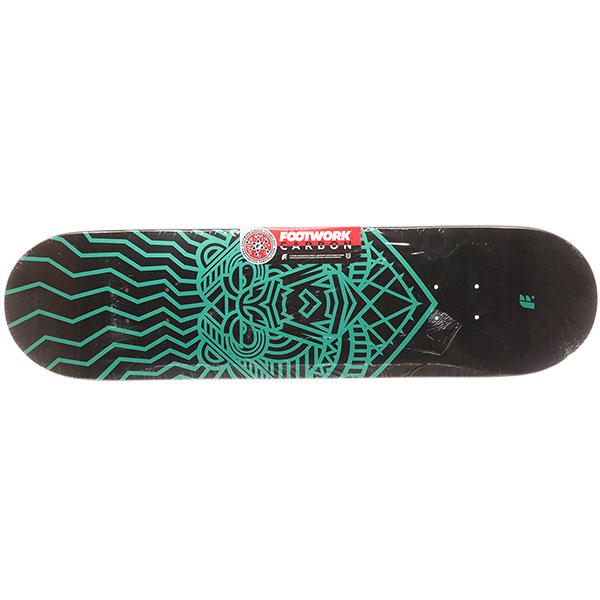 Дека для скейтборда Footwork Carbon Bear Metallic Paint Black/Green 31.5 x 8 (20.3 см)