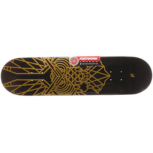 Дека для скейтборда Footwork Carbon Owl Metallic Paint Black/Gold 31.5 x 8 (20.3 см)
