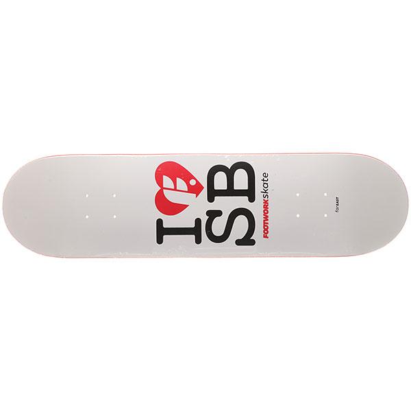 Дека для скейтборда Footwork Classic I F Sb White/Red 31.5 x 8 (20.3 см)
