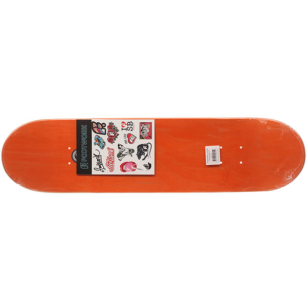Дека для скейтборда Footwork Classic Tag Scarlet Orange 31.5 x 8 (20.3 см)