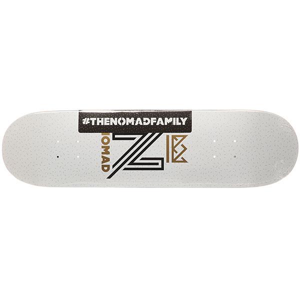 Дека для скейтборда Nomad Og Logo Nmd1 Medium White 31.8 x 8.25 (21 см)