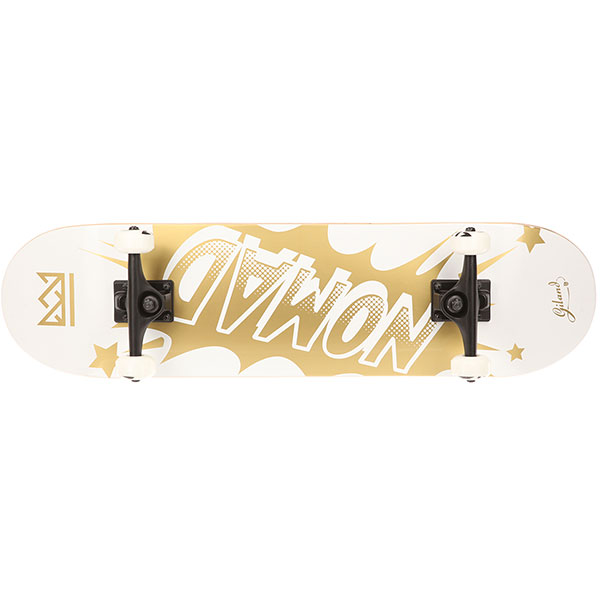 Скейтборд в сборе Nomad Banger Complete Medium Gold 32 x 8.25 (20.3 см)