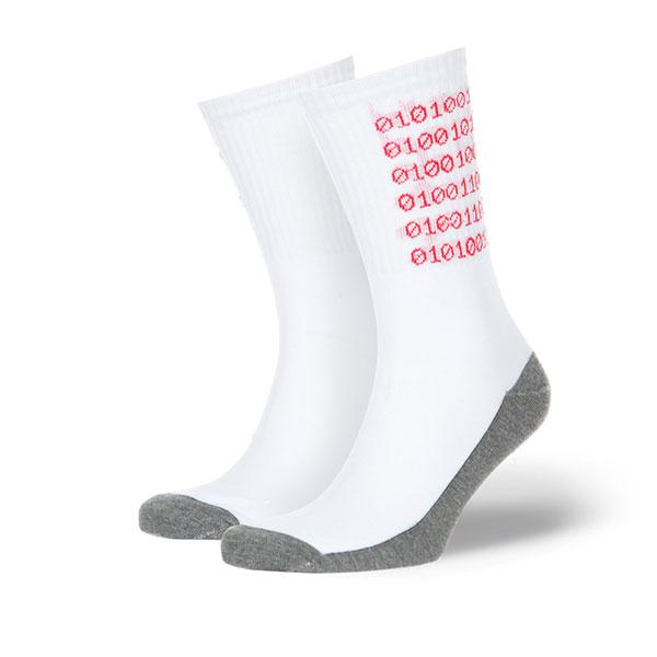 Носки высокие Skills Цифры Белые