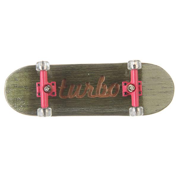 Фингерборд Turbo-FB П10 Гравировка Green/Pink/Clear