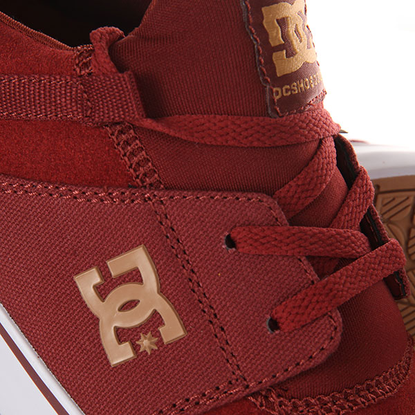 Кеды низкие DC Heathrow Vulc Burgundy/Tan