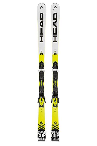 Горные лыжи Head Wc Rebels Igsr Ab + Prd 12 Brake 85 (горные Лыжи+крепления Гл) White/Neon Yellow