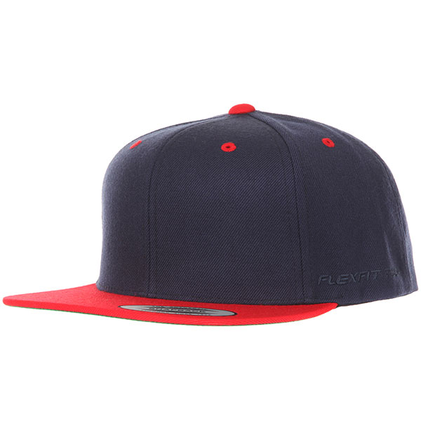 Бейсболка с прямым козырьком Yupoong 6089mt Navy/Red