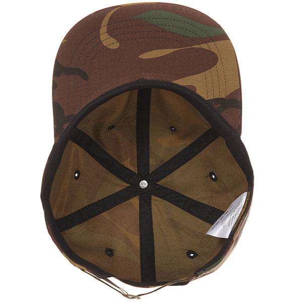 Бейсболка с прямым козырьком Yupoong 6245cm Camo Flat Brim Green Camo