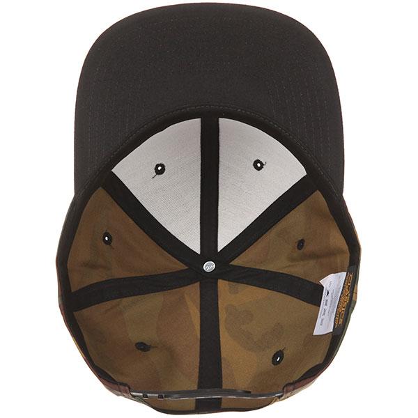 Бейсболка с прямым козырьком Yupoong 6089tc Camo/Black