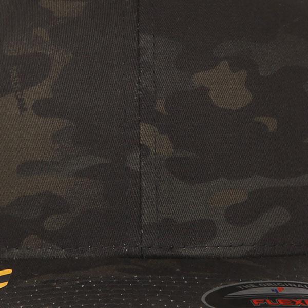 Бейсболка классическая Flexfit Yupoong 6277mc Multicam Black