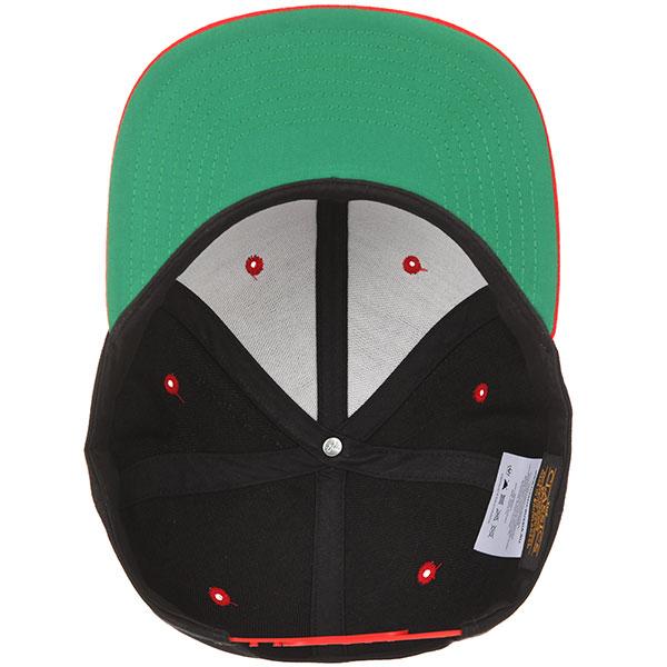 Бейсболка с прямым козырьком Flexfit Yupoong 6089mt Black/Red