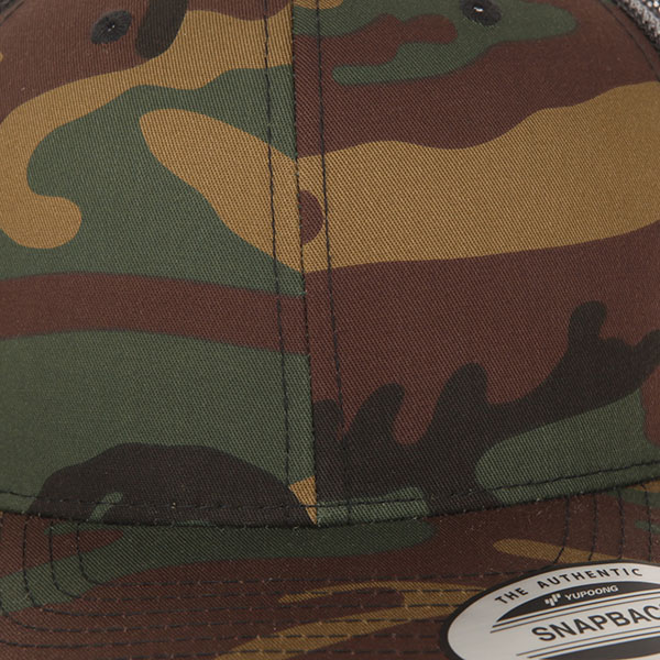 Бейсболка с сеткой Yupoong 6606ca Green Camo