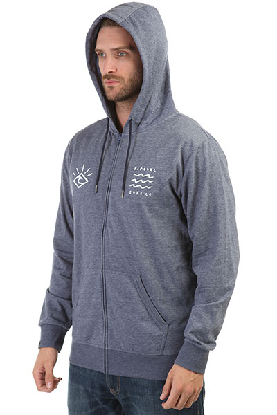 Толстовка классическая Rip Curl Wave Diamond Fleece Blue Indigo Marle
