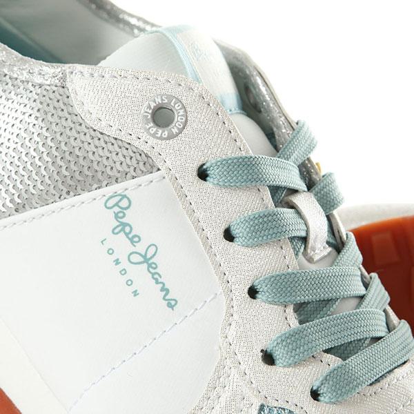 Кроссовки женские Pepe Jeans London Verona Sequins Серебряныe
