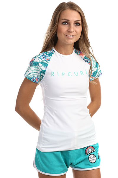 Гидрофутболка женская Rip Curl Tropic Tribe Relaxed Whitе
