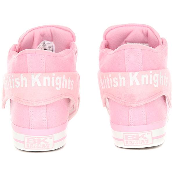 Кеды высокие женские British Knights RОCО Розовые
