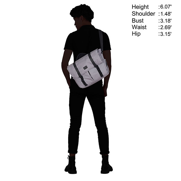 Портфель Hynes Eagle MFCSB0221439 Светло-серый