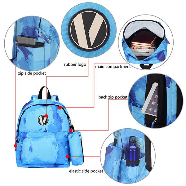 Рюкзак Veegul USTBP0220751 Голубой