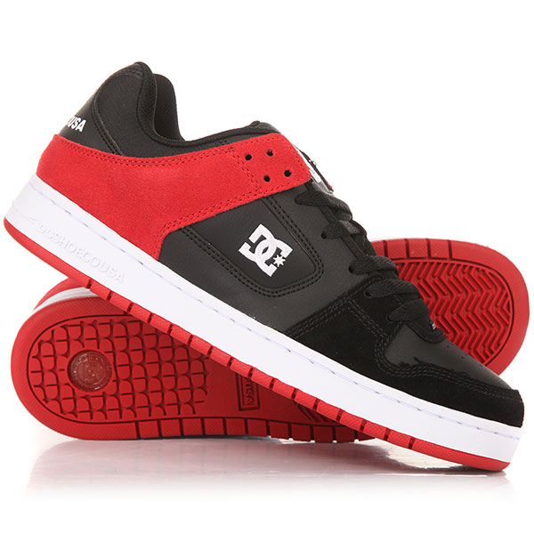Кеды низкие DC Manteca Black/Athletic Red