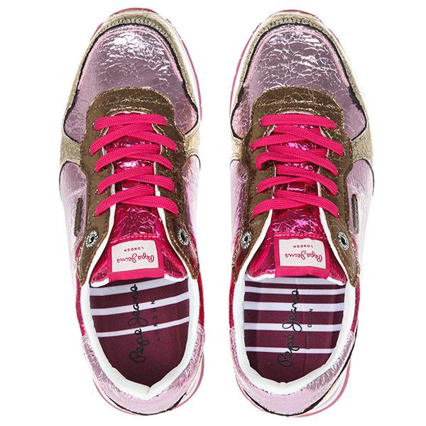 Кроссовки женские Pepe Jeans London Verona Cracked Розовые