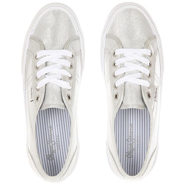 Кеды женские Pepe Jeans London Сeребряные