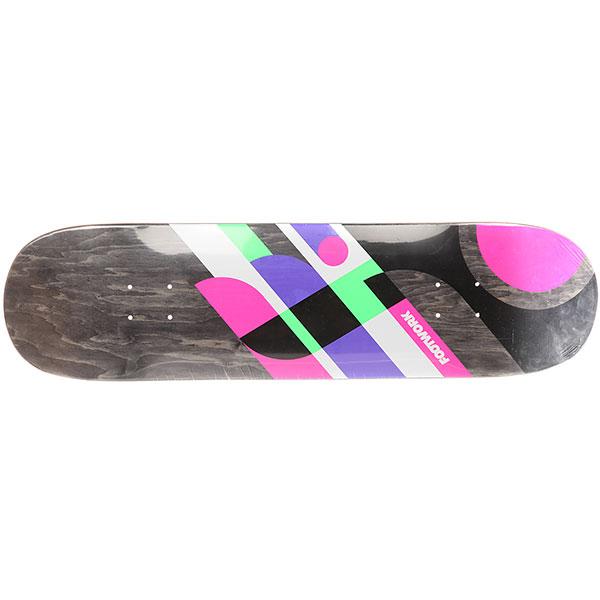Дека для скейтборда Footwork 18 Ps Stix Stripes Black 31.625 x 8.125 (20.6 см)