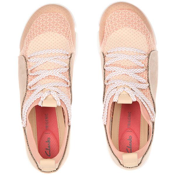 Кроссовки женские Clarks Tri Аmelia Розовые