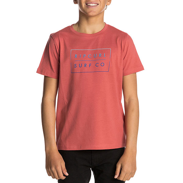 Футболка детская Rip Curl Undertow Logo Gradian Mineral Red