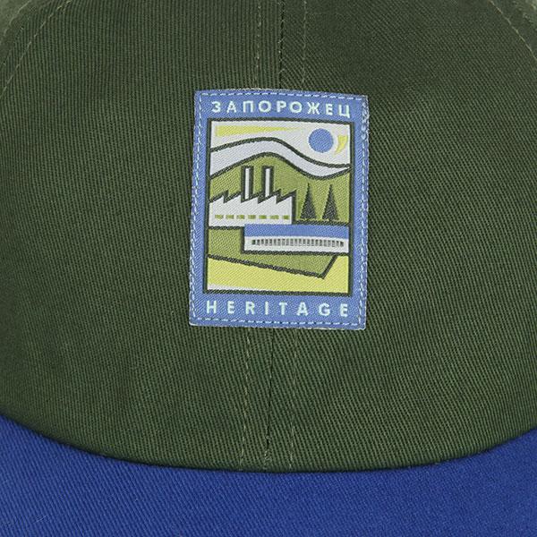 Бейсболка с прямым козырьком Запорожец Classic Cap Green/Blue