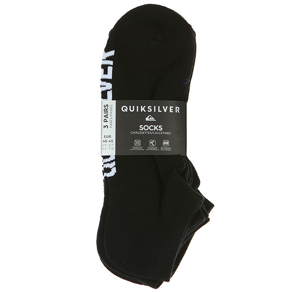 Нoски низкие Quiksilver 3ankle Pack Black