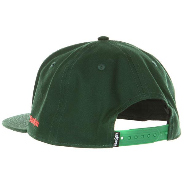 Бейсболка с прямым козырьком TrueSpin Rasta Snap Green