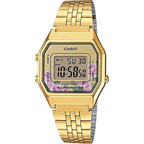 Электронные часы женские Casio Collection La680wega-4c Gold