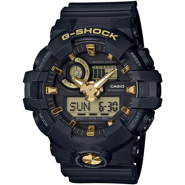 Электронные часы Casio G-Shock ga-710b-1a9 Black