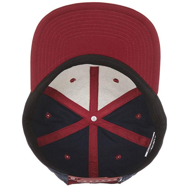 Бейсболка с прямым козырьком TrueSpin Next Lavel 2 Tones Navy/Bordeaux
