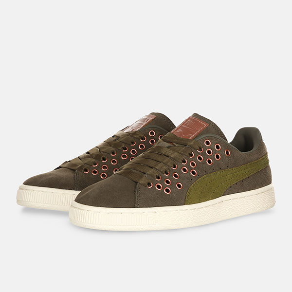 Кеды женские Puma Suede XL Lace Olive Night/Avocado