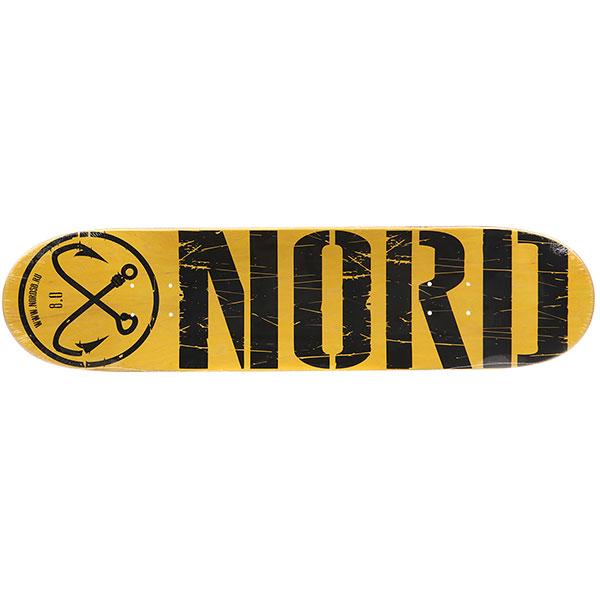 Дека для скейтборда Nord ЛОГО Yellow 31.75 x 8 (20.3 см)