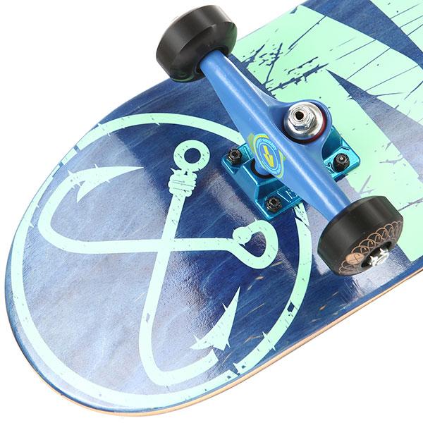Скейтборд в сборе Nord Лого (color trucks) Blue 31.75 x 8 (20.3 см)