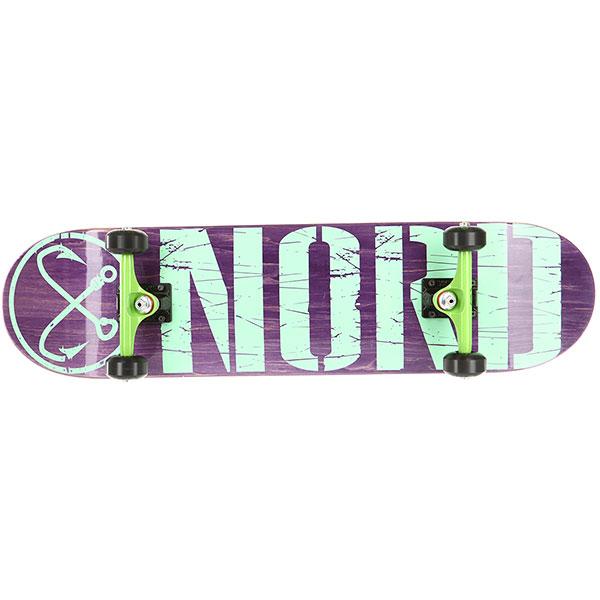 Скейтборд в сборе Nord Лого (color trucks) Purple 32 x 8.125 (20.6 см)