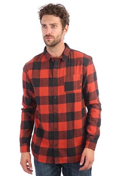 Рубашка в клетку QUIKSILVER Motherflyfla Barn Red Motherfly C