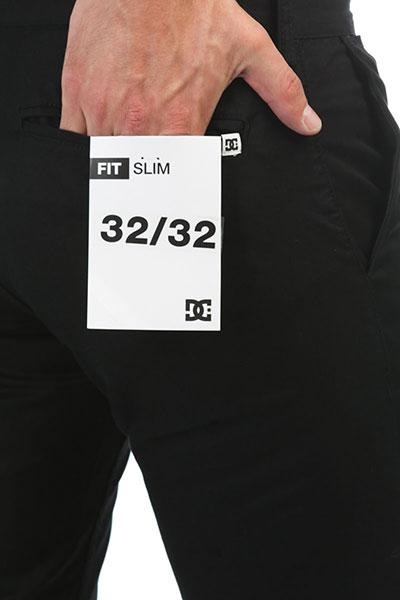 Штаны узкие DC Worker Slim Black