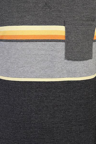 Толстовка свитшот Rip Curl Yarn Dyed Stripe Crew Fleece Dark Marle