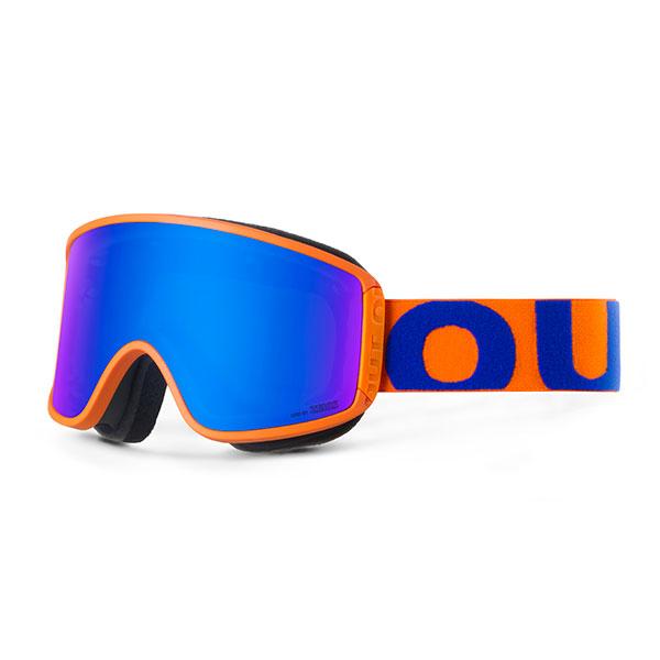Маска для сноуборда OUT OF Shift Маска + Доп Линза Blue Orange(blue Mci)