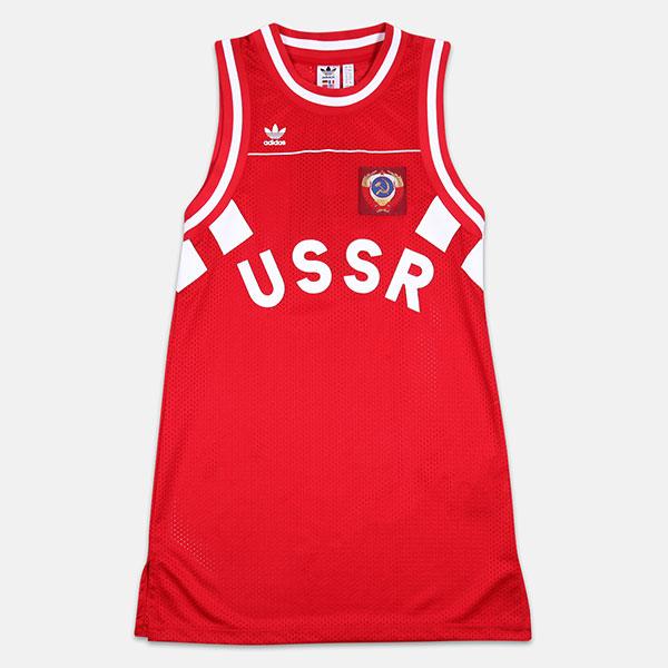 Майка Adidas Tank Dress Rus Scarlet